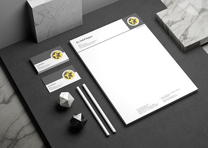 kapur acupuncture clinic stationary design letterhead visiting cards