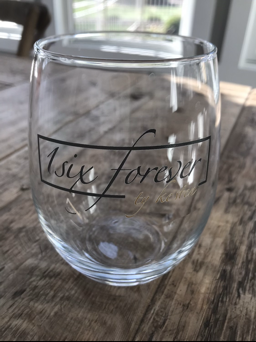 21oz Wine Glass with 1Six Forever Ty Kesten