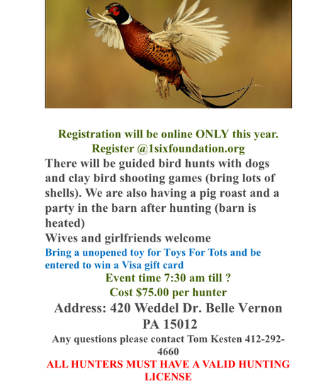 0nly 25 Spots Remaining For Our 3rd Annual Pheasant Hunt! REGISTER TODAY