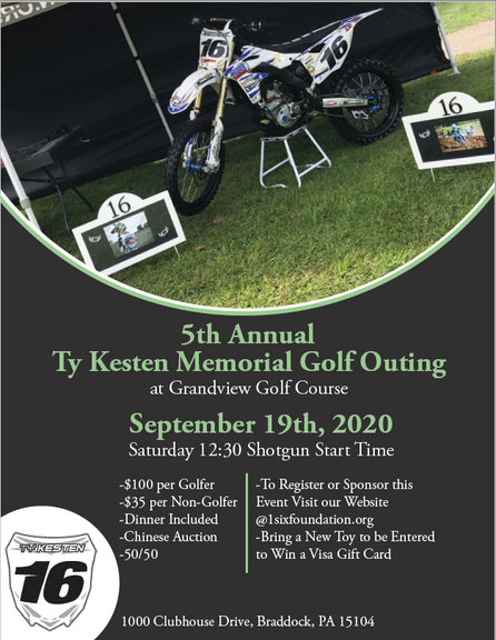REGISTRATION AND SPONSORSHIPS NOW OPEN FOR OUR 5TH ANNUAL TY KESTEN MEMORIAL GOLF OUTING