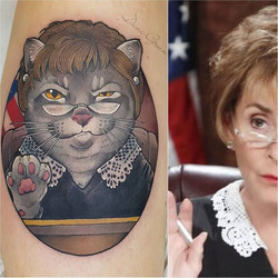 Judge Judy as a cat.