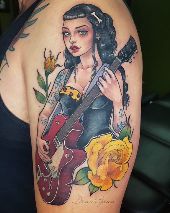 Rockabilly girl guitar