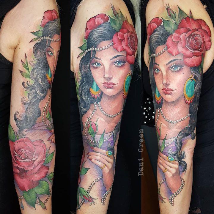 pretty lady sleeve