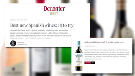 Viñátigo Gual 2020 in the selection of the best new Spanish wines by Chris Wilson for Decanter