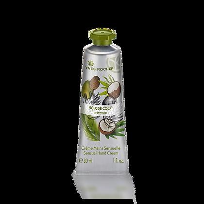 Crème mains sensuelle Noix de Coco - 30 ml