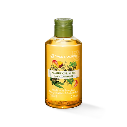 Bain Douche Energisant Mangue Coriandre - 200 ml