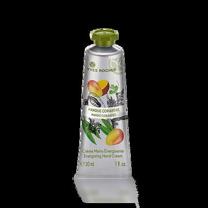 Crème mains énergisante Mangue Coriandre - 30 ml