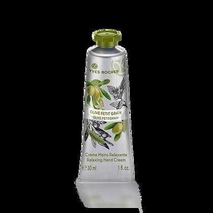 Crème mains relaxante Olive Petit Grain - 30 ml