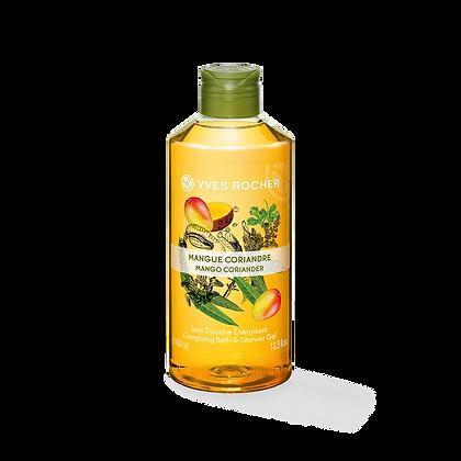 Bain Douche Energisant Mangue Coriandre - 400 ml