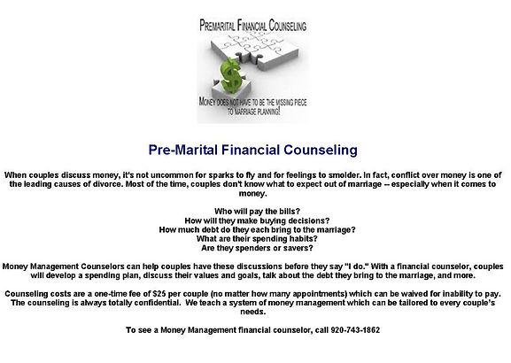 Money Management Counselors Premarital Financial Counseling