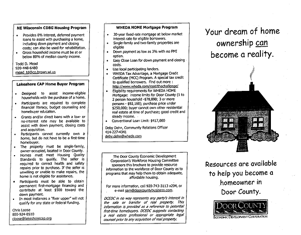 Door County Housing Information Brochure