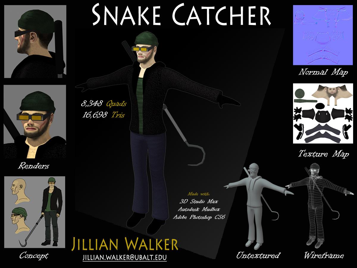 Snake Catcher Model Sheet