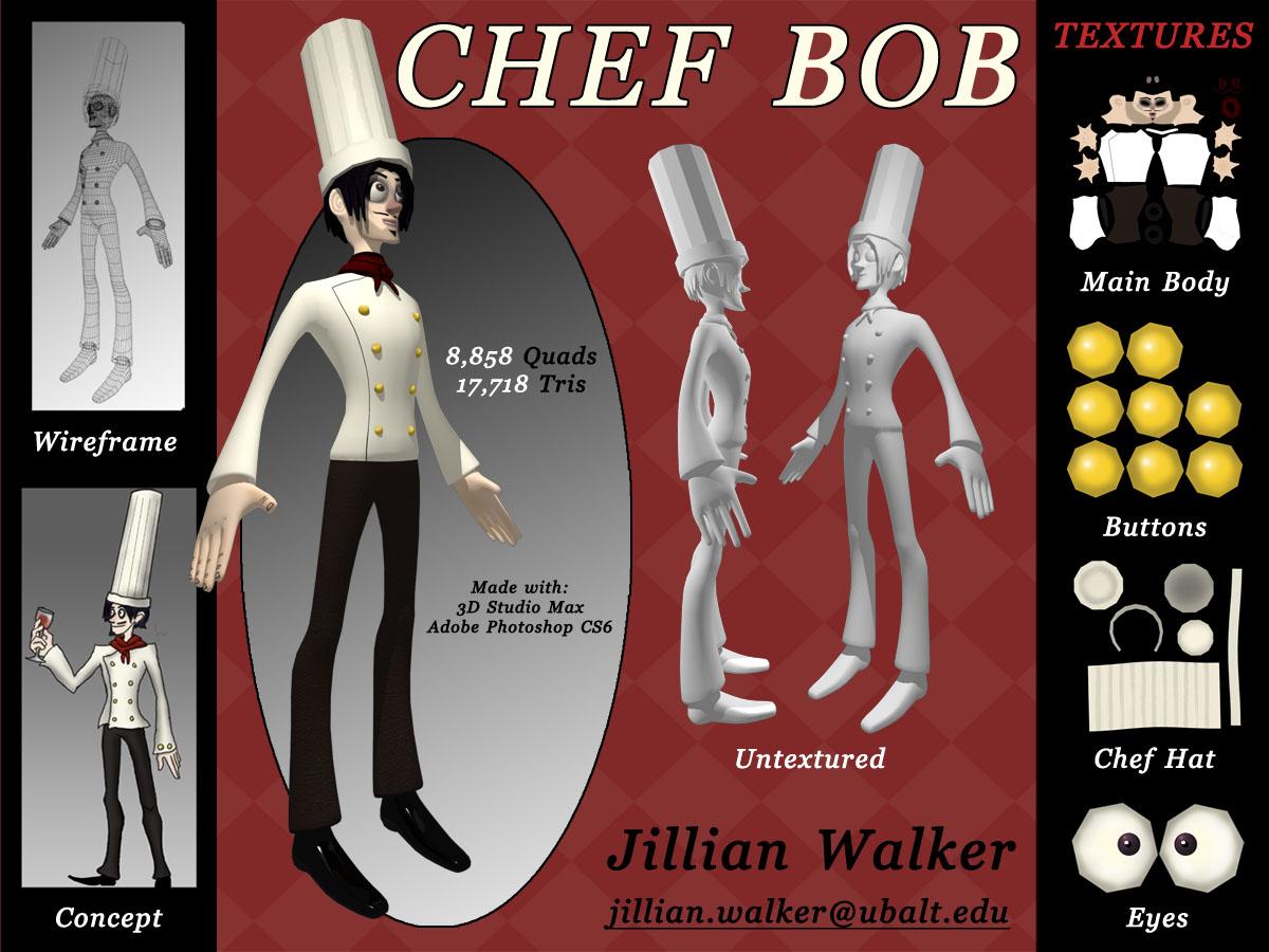 Chef Bob Model Sheet