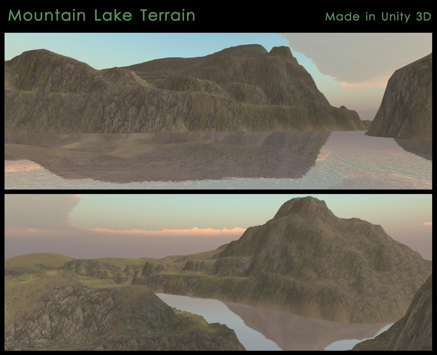 Mountain Lake Terrain