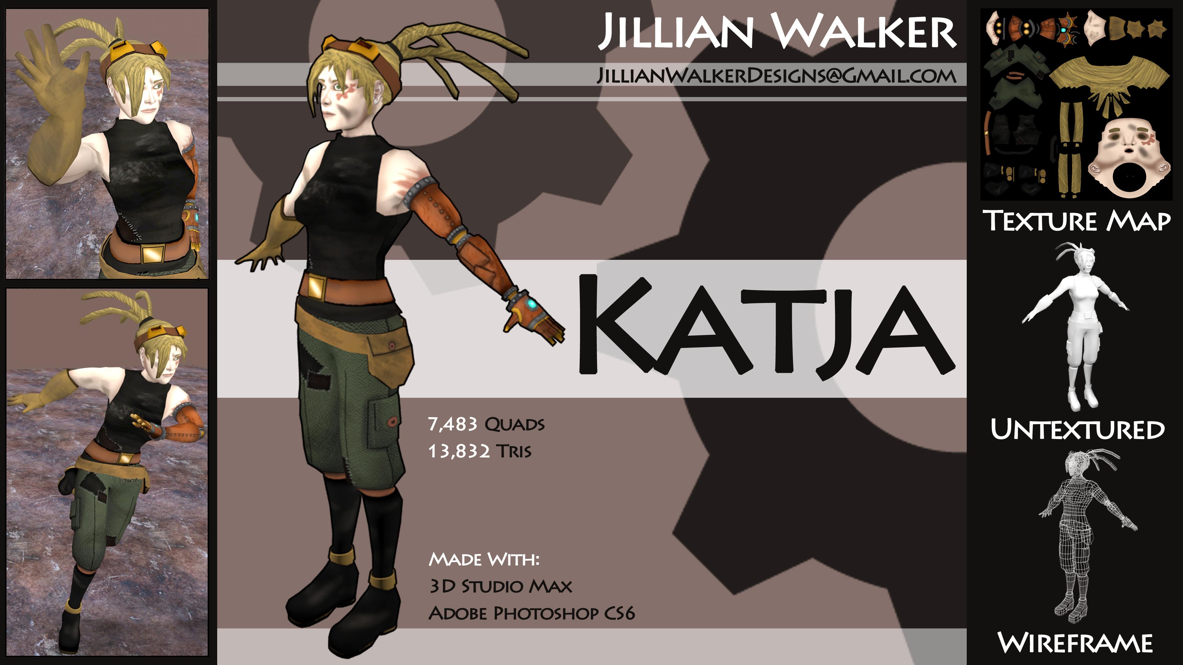 Katja Model Sheet