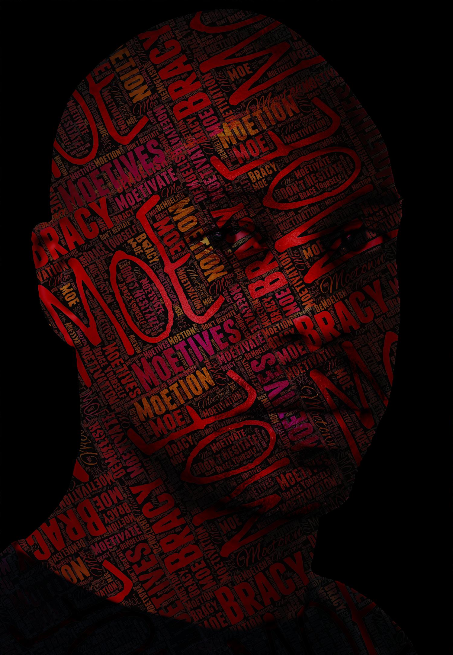 Text Portrait - Moe