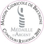 Médaille d'Argent 2019 Cidrerie Benoit