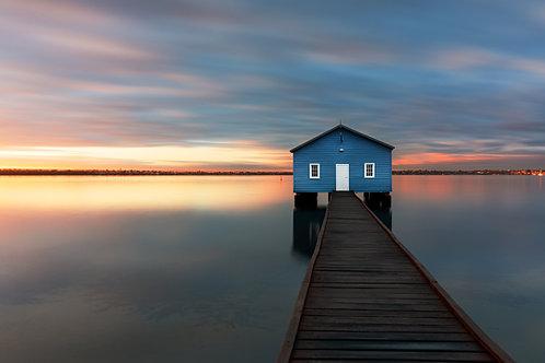 Sunrise over Crawley Edge Boat House