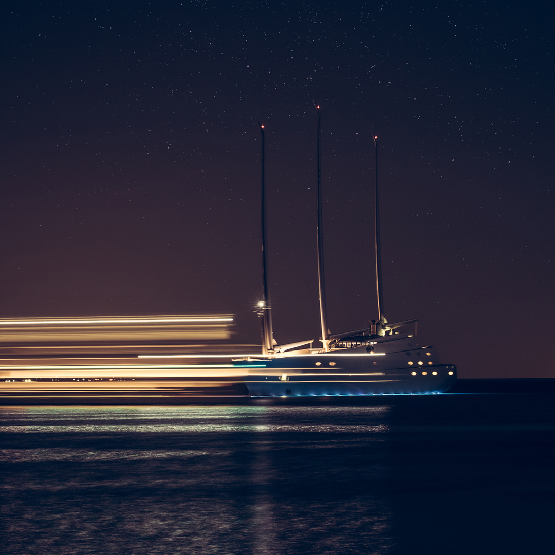 Sailing Yacht A - by night
