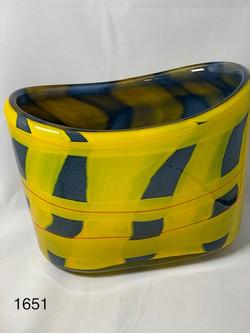 Oval bowl Plaid