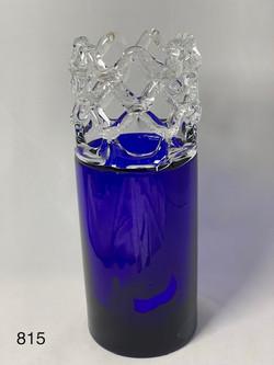 Cobalt & Clear Lace
