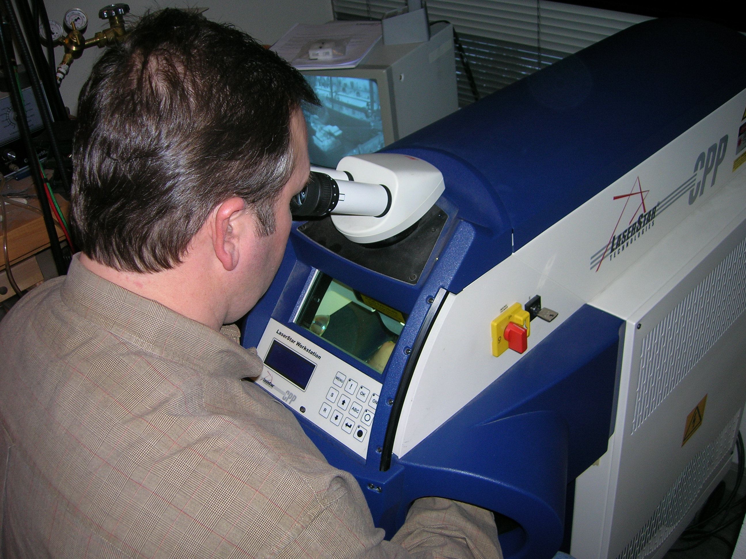 Eric at laser welder
