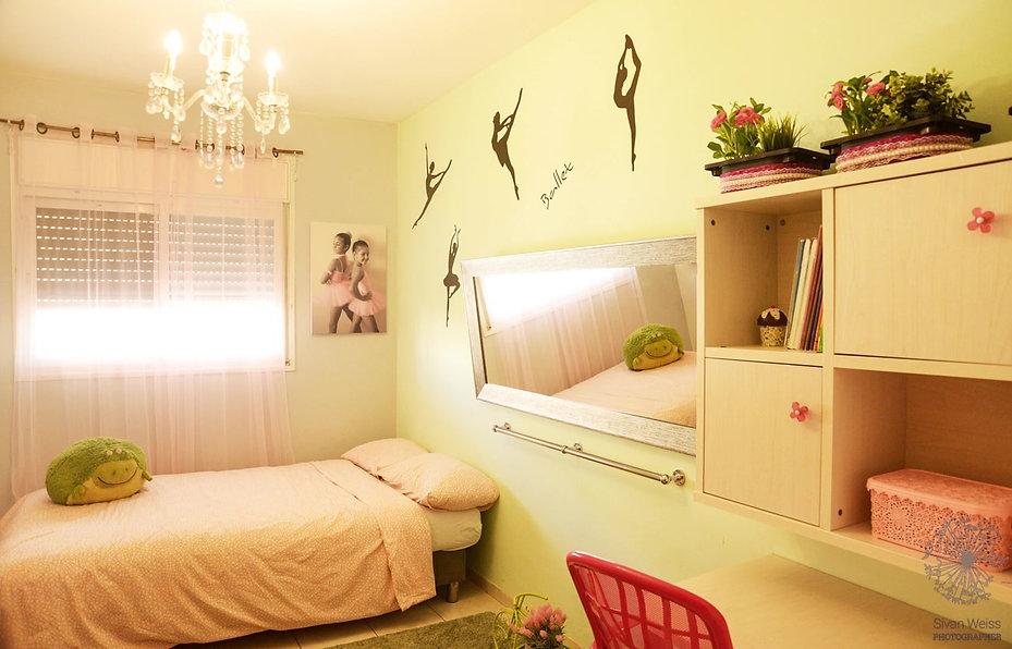 טלי אלון תכנון חדר בנות