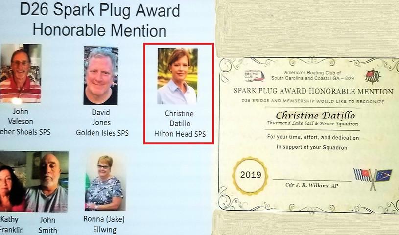 D26 Spark Plug Award