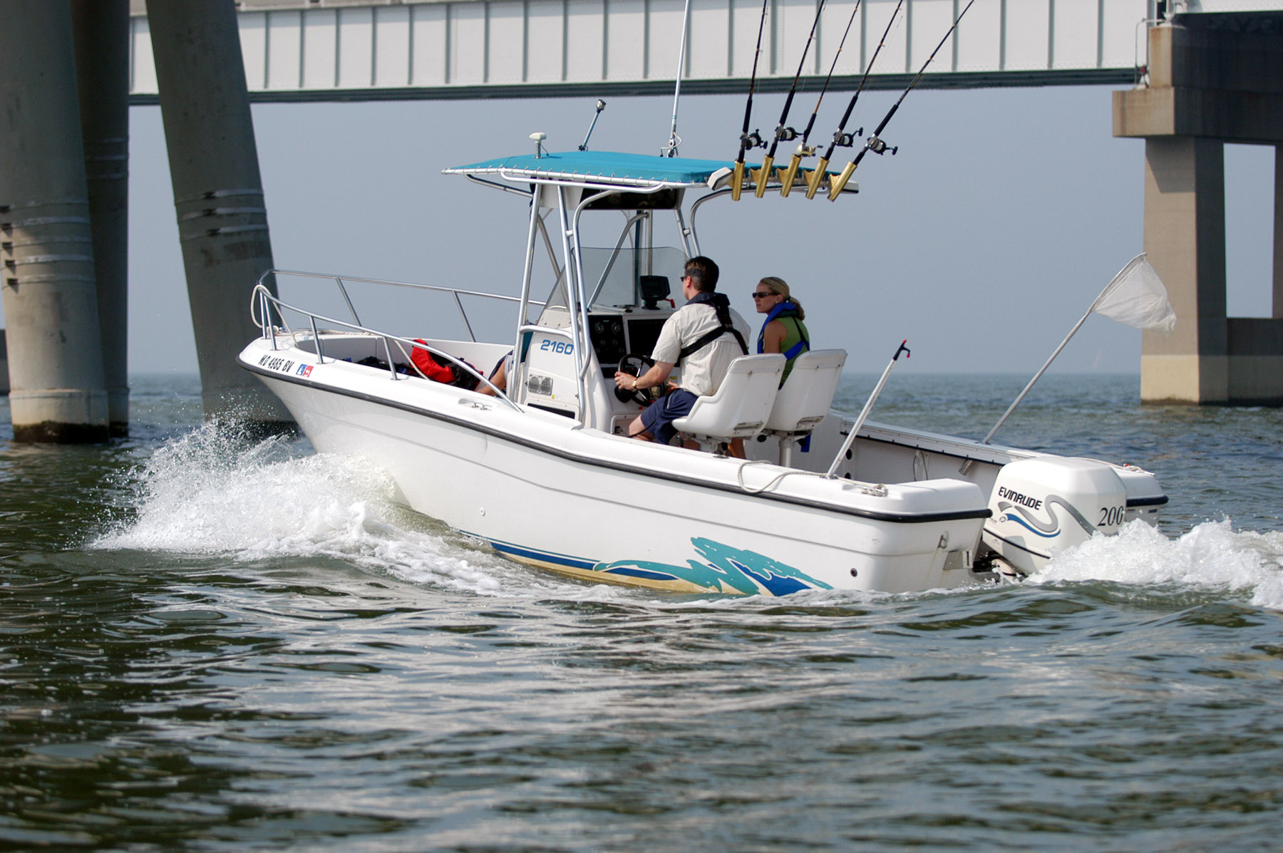Boating by Bridge Pic