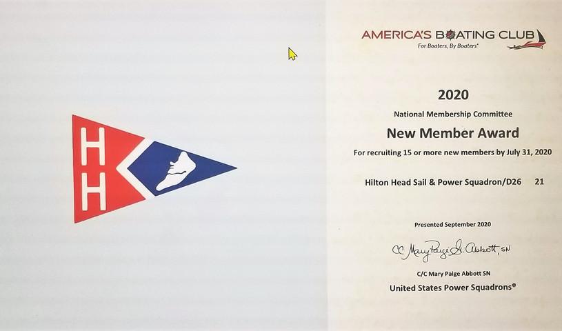 New Members Award