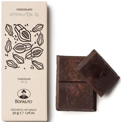 Cioccolato Bonajuto 80% puro cacao gr. 50 - Antica Dolceria Bonajuto