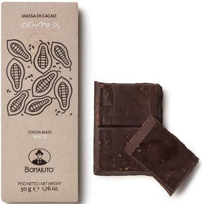 Cioccolato Bonajuto 100% puro cacao gr.50 - Antica Dolceria Bonajuto