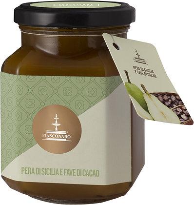 Confettura di pere di Sicilia e fave di cacao gr 360 - Fiasconaro