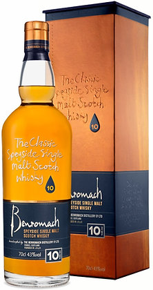 "Speyside Single Malt Scotch Whisky ""10 Years Old"" - Benromach cl. 70"