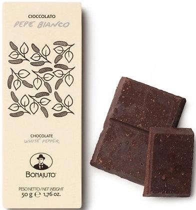 Cioccolato Bonajuto con Pepe Bianco gr. 50 - Antica Dolceria Bonaiuto
