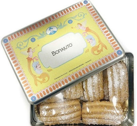 Biscotti al latte gr.250  in latta - Antica Dolceria Bonajuto