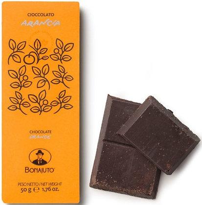 Cioccolato Bonajuto all'arancia gr.50 - Antica Dolceria Bonajuto