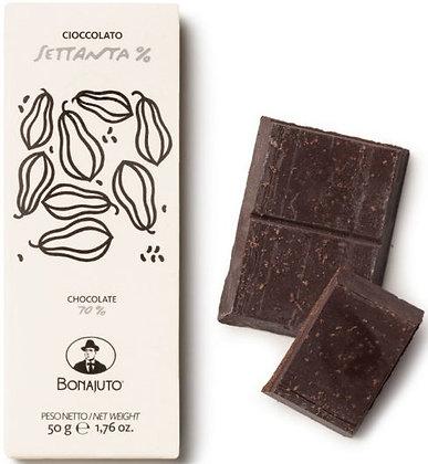 Cioccolato Bonajuto 70% puro cacao gr.50 - Antica Dolceria Bonajuto