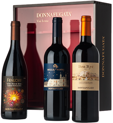 """Cassetta legno """"Vini icona"""" - Donnafugata"""