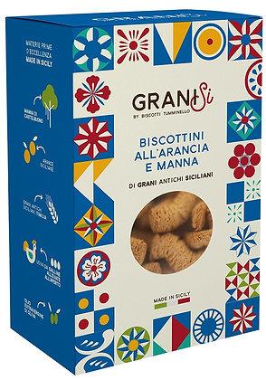 Granisi Biscotti all'Arancia e Manna gr 210 - Tumminello biscotti