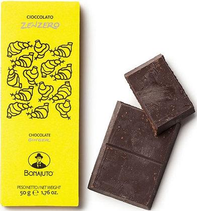 Cioccolato Bonajuto allo Zenzero gr.50 - Antica dolceria Bonajuto