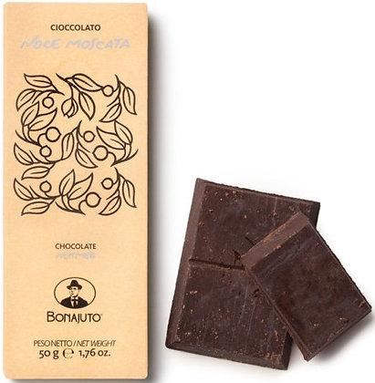 Cioccolato Bonajuto alla noce moscata gr.50 - Antica Dolceria Bonajuto
