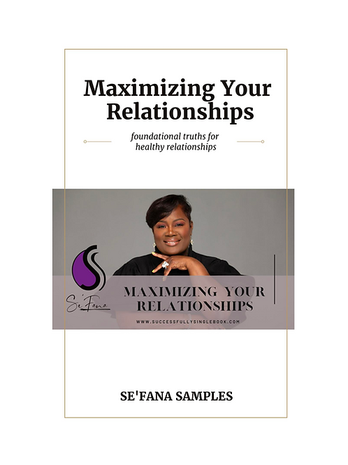 Maximizing Your Relationships E-Book