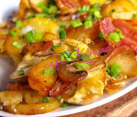 Картошечка запеченная с грибами