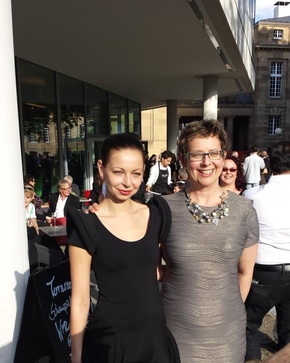 Katarzyna and Janet Echelman