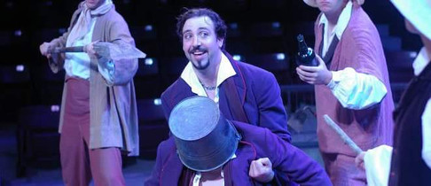 As Borachio in MUCH ADO ABOUT NOTHING at Illinois Shakespeare Festival