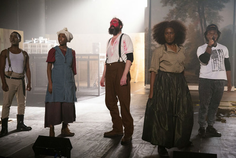 """""""The old drunken playwright (the remarkable Ed Swidey) smears on red-face to portray an American Indian in the play."""" - Review, AN OCTOROON, Wilma Theater, Howard Shapiro, Newsworks.org"""