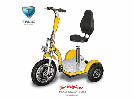 Triad's Pioneering Achievements  for 3 Wheel Scooters