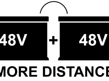 Can I connect another 3 wheel scooter battery for more distance?