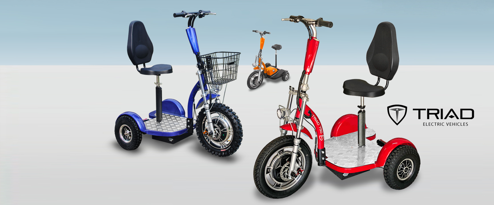 Triad 750, Quantum Dual, 3 Wheel Scooter, Personal Electric Vehicles for Adults